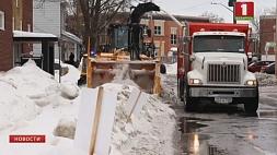 Канада в плену зимней бури Канада ў палоне зімовай буры