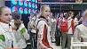 Три олимпийские лицензии и три медали Тры алімпійскія ліцэнзіі і тры медалі Belarus' national rhythmic gymnastics team wins three Olympic licenses and three medals