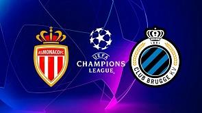 """Футбол. Лига чемпионов. 4 тур. """"Монако"""" - """"Брюгге"""". 0-4"""
