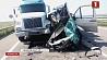Появилось первое видео с места автокатастрофы белорусского микроавтобуса З'явілася першае відэа з месца аўтакатастрофы беларускага мікрааўтобуса