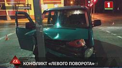 4 человека пострадали в столкновении микроавтобуса и легковой машины в Молодечно