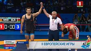 Удачный день для белорусов в борьбе. Александр Гуштын взял бронзу II Европейских игр  Good day for Belarusian wrestlers
