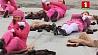 Розовую акцию протеста провели активисты Гринписа в Берлине Ружовую акцыю пратэсту правялі актывісты Грынпіса ў Берліне