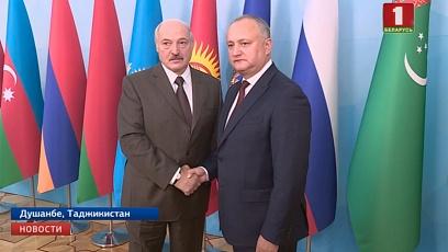 Александр Лукашенко в Душанбе провел ряд двусторонних встреч с зарубежными лидерами