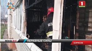 В Борисове мужчина пострадал при тушении пожара