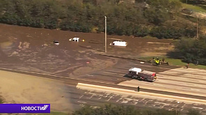 Наводнение внезапно накрыло главную автостраду вокруг Хьюстона