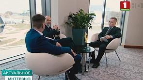 Операционный директор A1 Telekom Austria Group  Алехандро Платер  и генеральный директор компании Velcom А1  Гельмут Дуз