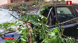 Мощный шторм обрушился на северо-запад Польши Магутны шторм абрынуўся на паўночны захад Польшчы