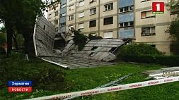 """По Хорватии  пронесся сокрушительный ураган """"Теодор"""" Па Харватыі  пранёсся разбуральны ўраган """"Тэадор"""""""