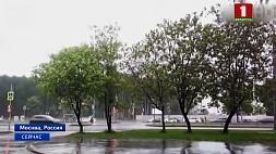 Москва в десятибалльных пробках из-за ливней Масква ў дзесяцібальных заторах праз ліўні