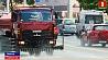 Дорожные службы с помощью поливочных машин охлаждают асфальт каждый час Дарожныя службы з дапамогай палівальных машын ахалоджваюць асфальт кожную гадзіну