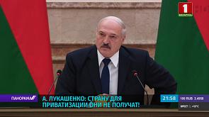 А. Лукашенко: Мы создали суверенное государство, и мы эту страну никому не отдадим