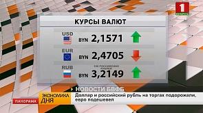 Доллар и российский рубль на торгах подорожали, евро подешевел