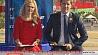 Агентство теленовостей Белтелерадиокомпании начинает информационный день из самого центра Минска  Агенцтва тэленавін Белтэлерадыёкампаніі пачынае інфармацыйны дзень з самага цэнтра Мінска  Belteleradiocompany's TV News Agency begins live broadcast of Independence Day parade