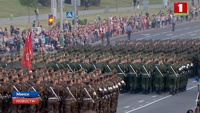 В Минске прошла последняя генеральная репетиция парада в честь независимости Беларуси