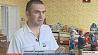 Николай Сахаревич - единственный мужчина-воспитатель в Пружанском районе Мікалай Сахарэвіч - адзіны мужчына-выхавальнік у Пружанскім раёне