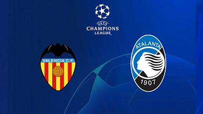 """Футбол. Лига чемпионов УЕФА. 1/8 финала. """"Валенсия"""" - """"Аталанта"""" 3:4"""