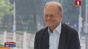 Гость выездной студии - почетный консул Беларуси в Словении Янез Шкрабец