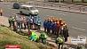"""Трудовую акцию """"Весна 45-го"""" провели у мемориального комплекса по проспекту Дзержинского"""