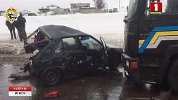Серьезная авария на Партизанском проспекте в столице Сур'ёзная аварыя на Партызанскім праспекце ў сталіцы