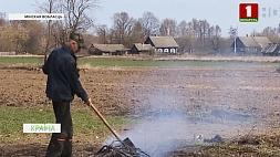 Новые случаи разжигания огня и выжигания сухой травы  зафиксированы в Минской области Новыя выпадкі распальвання агню і выпальвання сухой травы  зафіксаваныя ў Мінскай вобласці