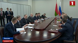 В Сочи состоялись переговоры Александра Лукашенко и Владимира Путина У Сочы адбыліся перамовы Аляксандра Лукашэнкі і Уладзіміра Пуціна Alexander Lukashenko and Vladimir Putin hold talks in Sochi