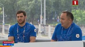 Гости студии - серебряный медалист Али Шабанов и его тренер Жуматай Шубаев