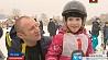 Морозная и  снежная погода - подарок для профессиональных спортсменов  и  любителей Марознае і  снежнае надвор'е - падарунак для прафесійных спартсменаў  і  аматараў
