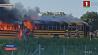 ДТП в Канаде. Сгорели два школьных автобуса ДТЗ у Канадзе. Згарэлі два школьныя аўтобусы