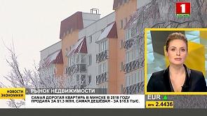 Самая дорогая квартира в Минске в 2018 году продана за $1,3 млн, самая дешевая - за $18,6 тыс.