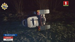 В Вилейском районе самодельный трактор столкнулся с фурой У Вілейскім раёне самаробны трактар сутыкнуўся з фурай