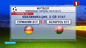 Юношеская сборная Беларуси по футболу в стартовом матче раунда чемпионата Европы вничью сыграла против команды Германии