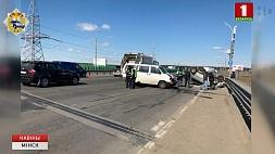 В результате аварии на МКАД пострадали три человека У выніку аварыі на Мінскай кальцавой пацярпелі тры чалавекі