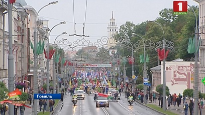 Праздничные парады прошли в Гомеле и Витебске
