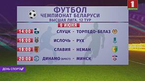 Чемпионат Беларуси по футболу. Матчи 12-го тура пройдут 6 июня