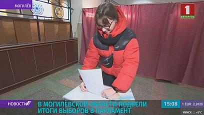 У Магілёўскай вобласці падвялі вынікі выбараў у парламент