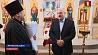 Александр Лукашенко зажег праздничную свечу в храме Рождества Христова в Логойском районе