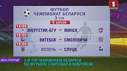 3-й тур чемпионата Беларуси по футболу стартовал в Бобруйске 3-ці тур чэмпіянату Беларусі па футболе стартаваў у Бабруйску