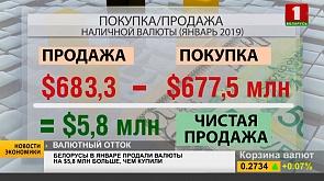 Белорусы в январе продали валюты на $5,8 млн больше, чем купили