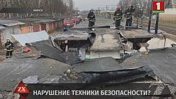 Сварочные работы в гаражном кооперативе Минска могли стать причиной сильного пожара