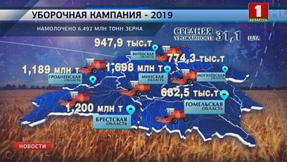 """Брестский регион с показателем 1 200 000 тонн зерна сегодня встречает """"Дажынкі"""""""