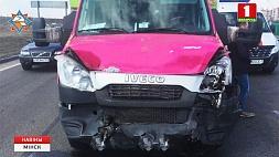 В районе улицы Шаранговича столкнулись три авто У раёне вуліцы Шаранговіча сутыкнуліся тры аўто
