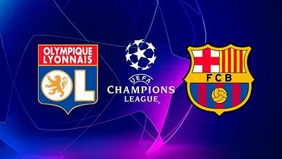 "Футбол. Лига чемпионов. 1/8 финала. ""Лион"" - ""Барселона"" 0:0"