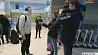 Наших пловцов встречали в Национальном  аэропорту Минск  Нашых плыўцоў сустракалі ў Нацыянальным аэрапорце Мінск Best performance of  male swimming team of Belarus in recent years