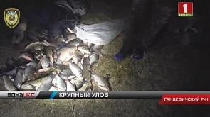 Браконьеры из Ганцевичского района снастями выловили более 41 килограмма рыбы